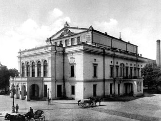 National Theatre Bucharest - The old building of the National Theatre in 1901–1904, photo by Alexandru Antoniu