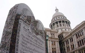 The controversial Ten Commandments display at ...