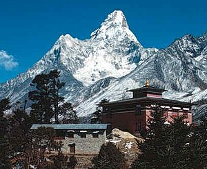 Tengboche with Ama Dablam behind