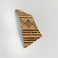 Terracotta sherd from a vessel with horizontal bands and cross-hatched diamond pattern MET DP162979.jpg