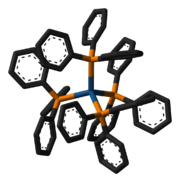 3D model of the tetrakis(triphenylphosphine)platinum(0) molecule