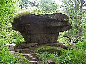 Fichtel Mountains - The Devil's Table, Teufelstisch, on the Großer Waldstein
