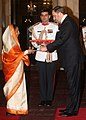 The Ambassador- designate of Spain, Mr. Gustavo Manuel de Aristegui y San Roman presented his credential to the President, Smt. Pratibha Devisingh Patil, at Rashtrapati Bhavan, in New Delhi on July 13, 2012.jpg