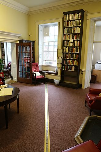 Bromley House Library - The 'Standfast Library'  in Bromley House Library, has a meridian line used to determine local solar noon.