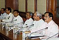 The Chief Minister of Orissa, Shri Navin Patnaik along with a delegation at a special meeting to review progress of infrastructure projects in Orissa, in New Delhi on April 19, 2007.jpg