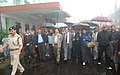 The Chief Minister of Sikkim, Shri Pawan Kumar Chamling accompanied by the Cabinet Ministers and other dignitaries visited the earthquake affected areas, at Tashiling on September 19, 2011.jpg