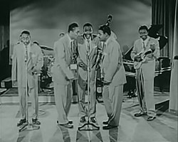 The Clovers - Rock and Roll Revue Apollo Theater 1955.jpg