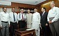 The Director (Operations) of Pakistan Railways, Mr. Shafiq Ullah alongwith a delegation meeting with the Union Minister for Railways, Shri Lalu Prasad, in New Delhi on June 19, 2008.jpg