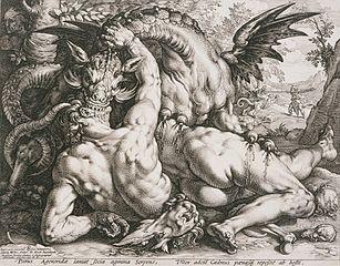 Le Dragon dévorant les compagnons de Cadmos