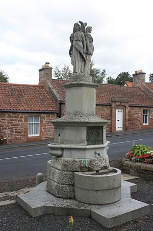 East Saltoun and West Saltoun - The Fountain to John Fletcher of Saltoun