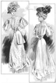 The Illustrated Milliner, Volume 7, Issue 7, July 1906 - Sketched at the Auteuil (Paris) Races.png