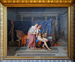 Miłość Parysa i Heleny – Jacques-Louis David