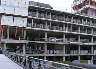 The Cube (building) - The Cube under construction, February 2009