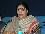 The Minister of State (Independent Charge) for Women & Child Development, Smt. Renuka Chowdhury briefing the media persons about forthcoming East Asia Gender Equality Ministerial Meet, in New Delhi on December 04, 2007.jpg