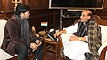 The Minister of State for Urban Development, Housing and Urban Poverty Alleviation, Shri Babul Supriyo calling on the Union Home Minister, Shri Rajnath Singh, in New Delhi on January 15, 2016.jpg
