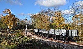 Great Central Railway (heritage railway) - The Line and Wagons at Swithland Junction in November 2010