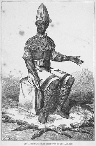 Zambia - The Muata Cazembe, Emperor of the Lunda people in the 1800s.
