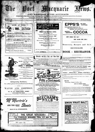 The Port Macquarie News and Hastings River Advocate - The Port Macquarie News and Hastings River Advocate, 7 January 1899