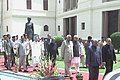 The President Dr. A.P.J. Abdul Kalam is being led in a procession to the Central Hall of the Parliament to address the joint Session of the Parliament in New Delhi on June 7, 2004.jpg