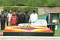 The President of the Republic of Namibia, Mr. Hifikepunye Pohamba laying wreath at the Samadhi of Mahatma Gandhi, at Rajghat, in Delhi on August 31, 2009.jpg