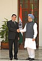 The Prime Minister, Dr. Manmohan Singh meeting the President of Turkmenistan, Mr. Gurbanguly Berdimuhamedov, in New Delhi on May 25, 2010.jpg