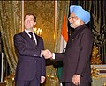 The Prime Minister, Dr. Manmohan Singh meeting the President of the Russian Federation, Mr. Dmitry Anatolyevich Medvedev, in Moscow, Russia on December 07, 2009.jpg