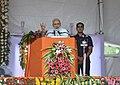 The Prime Minister, Shri Narendra Modi addressing at the foundation stone laying ceremony of the AIIMS Gorakhpur & for the revival of Gorakhpur Fertilizer plant, at Sports Ground, FCI, in Gorakhpur, Uttar Pradesh.jpg