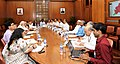 The Prime Minister, Shri Narendra Modi chairing a high level meeting on drought situation with the Chief Minister of Odisha, Shri Naveen Patnaik, in New Delhi on May 21, 2016 (2).jpg