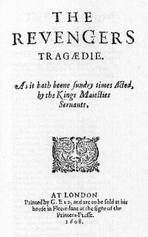 The Revenger's Tragedy - Title page of The Revenger's Tragedy