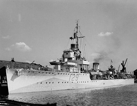 HMS Vanessa--the first destroyer casualty of the Kanalkampf. The Royal Navy during the Second World War A9503.jpg