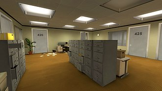 The Stanley Parable - The game begins in a mysteriously abandoned office.