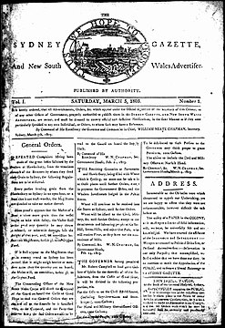 The Sydney gazette and New South Wales advertiser-first issue 5 March 1803.jpg
