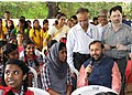The Union Minister for Human Resource Development, Shri Prakash Javadekar interacting with the Kendriya Vidyalaya students at the launch of the Swasth Bachche, Swasth Bharath Programme, in Kochi on August 21, 2017.jpg