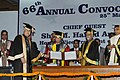 The Vice President, Shri M. Hamid Ansari conferring D. Litt. (Honoris Causa) upon Prof. Murli Manohar Joshi (MP, Lok Sabha), at the 66th Convocation of the Panjab University, in Chandigarh on March 25, 2017.jpg