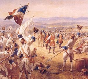 Battle of Carillon - Image: The Victory of Montcalms Troops at Carillon by Henry Alexander Ogden