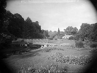 The flower garden at Plas Coed-coch, Betws-yn-Rhos