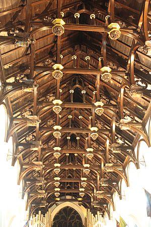 South Leith Parish Church - The stunning hammerhead timber ceiling of South Leith Parish Church