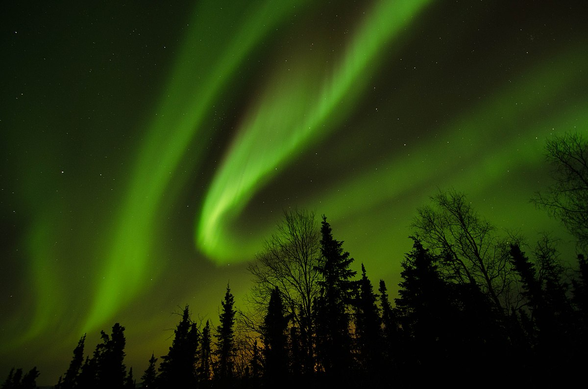 The northern lights just north of Fairbanks, Alaska
