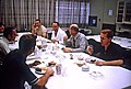 The prime and backup crew of Apollo 14 enjoy a pre-launch breakfast before suit-up.jpg