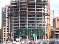 The structure of the Infinity (300 Spear Street) tower II and curtainwall glass, SF.JPG