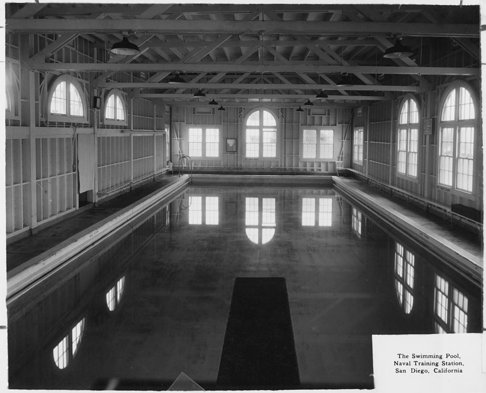 File the swimming pool u s naval training station san diego california nara for Swimming pool certification course