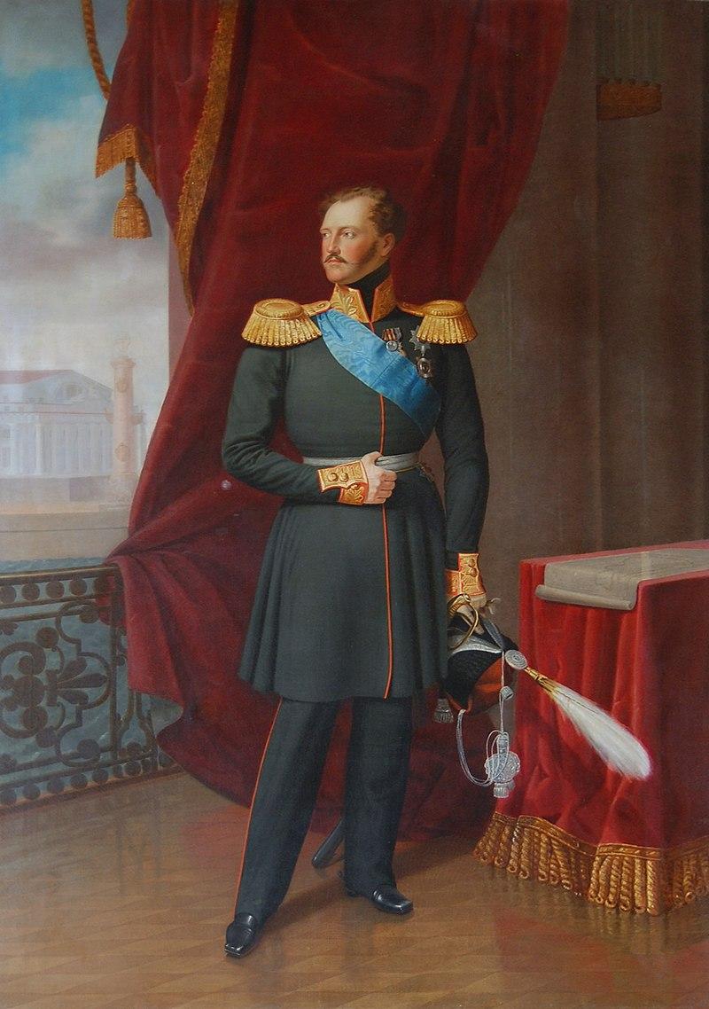 Теодор Хавинский (да Франц Крюгер, 1797-1857) - Ritratto dello zar Nicola I in uniforme di Hetmann dei Cosacchi.jpg