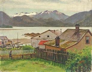 In the Old Quarter, Sitka, 1900