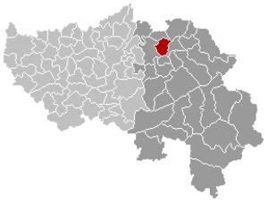 Thimister-Clermont - Image: Thimister Clermont Liège Belgium Map