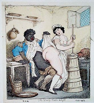 """The Dairy Maid's Delight"", a drawing by Thomas Rowlandson (1756-1827) Thomas Rowlandson (3).jpg"