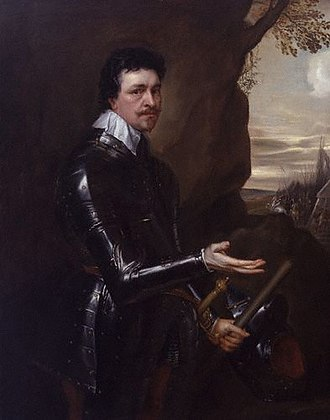Thomas Wentworth, 1st Earl of Strafford - Thomas Wentworth, 1st Earl of Strafford in an Armour, 1639, another portrait by Sir Anthony van Dyck.