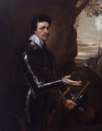 Thomas Wentworth, 1st Earl of Strafford in an Armour, 1639, another portrait by Sir Anthony van Dyck Thomas Wentworth, 1st Earl of Strafford.jpg
