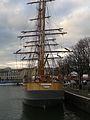 Three-masted barque Kaskelot of Bristol (built 1948) City Docks, Bristol 10.12.2013 005 (11339854106).jpg