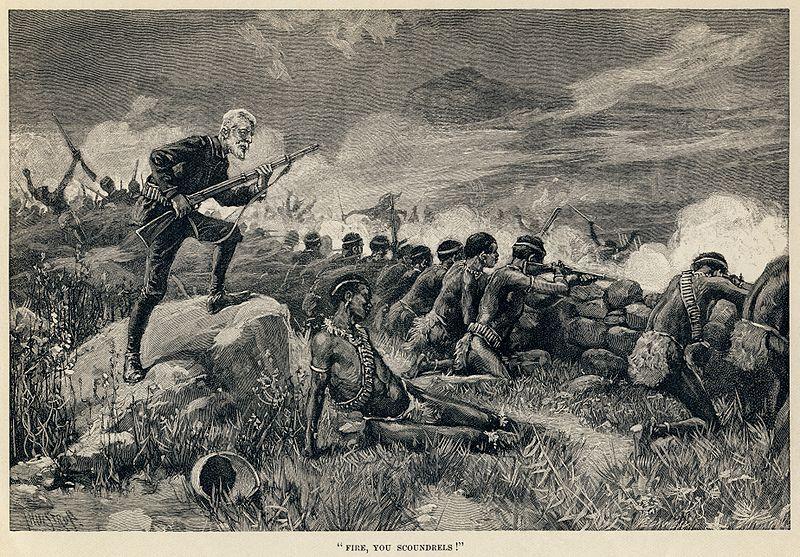 File:Thure de Thulstrup - H. Rider Haggard - Maiwa's Revenge - Fire, you scoundrels.jpg