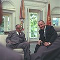 Thurgood Marshall and President Lyndon B. Johnson June 13, 1967 - LBJ Museum C5706-1.jpg